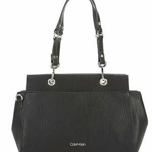 NWT Calvin Klein Blk Satchel Wear 2 Ways FirmPrice